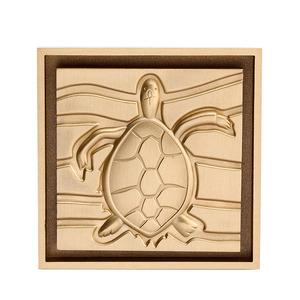Designer Brass Turtle Pattern Gold Shower Drains