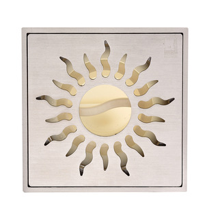 Stainless Steel Brushed Nickel Sun Pattern Shower Drains