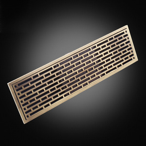 Antique Bronze Square Long Shower Drains