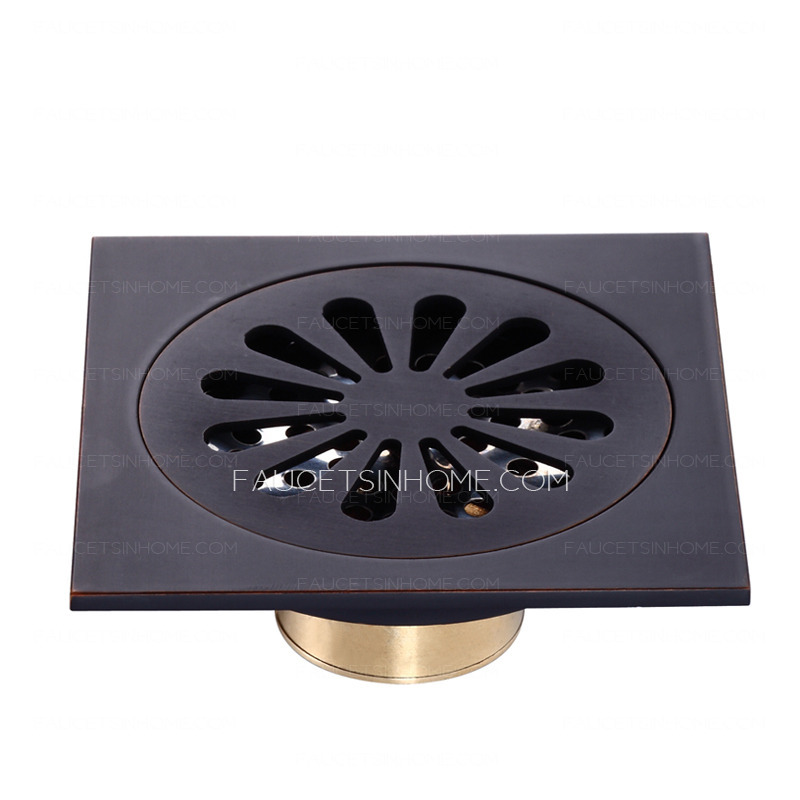 Vintage Oil Rubbed Bronze Black Shower Drains