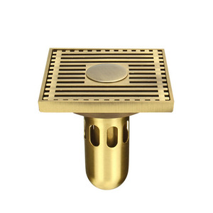 Antique Brass Metal Bathroom Shower Drains