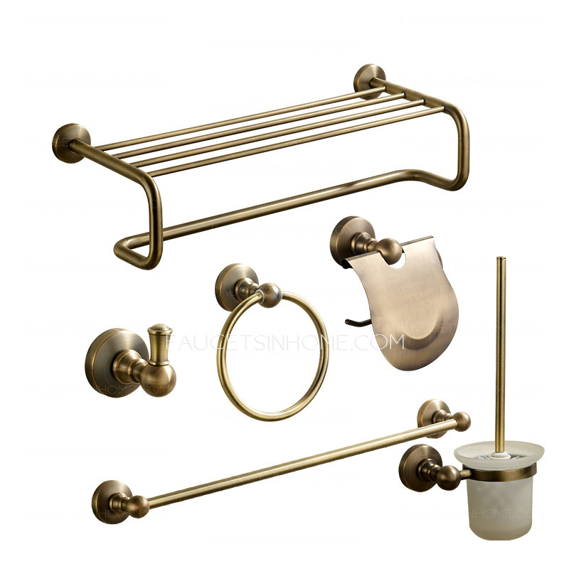 Bathroom hardware sets brass with perfect type for Vintage bathroom accessories