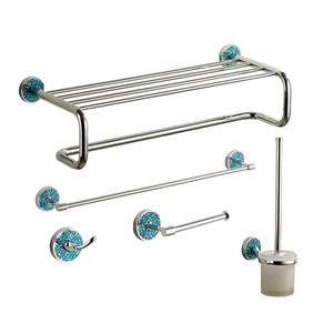 Designer Blue Metal Bathroom Accessory Sets