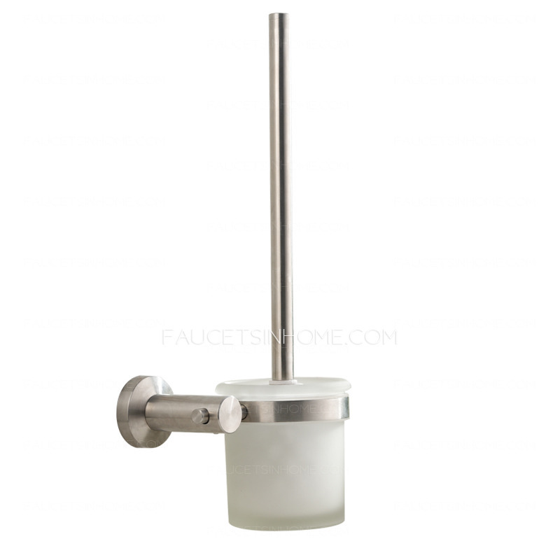 Modern Brushed Nickel Stainless Steel 5 Piece Bathroom Accessory Sets