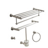 Modern Brushed Nickel Stainless Steel 5-piece Bathroom Accessory Sets