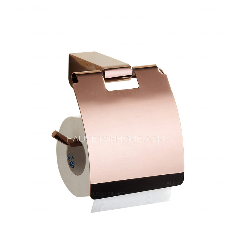 Luxury rose gold five piece bathroom accessory sets for Rose gold bathroom accessories sets