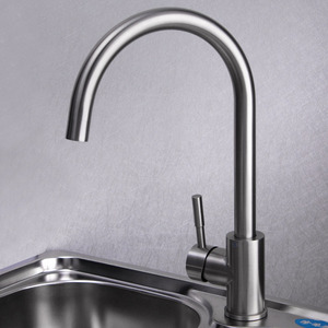 Safe Stainless Steel Brushed Nickel Kitchen Faucets Rotatable
