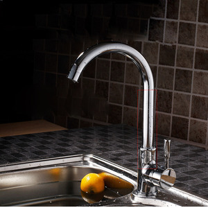 Classic Brass Chrome Rotatable Kitchen Sink Faucets
