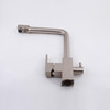 Modern Brushed Nickel Rotatable Kitchen Faucets Two Handles