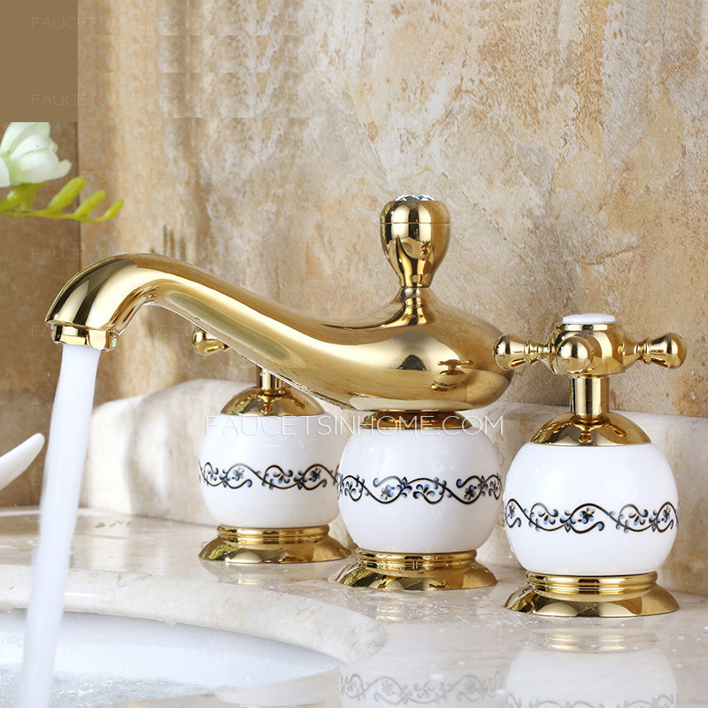 Royal three holes widespread wholesale bathroom faucets Wholesale bathroom fixtures