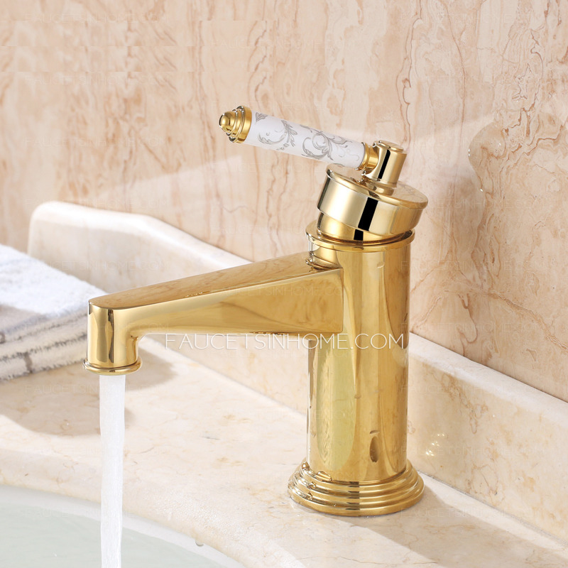 Luxury polish brass single handle filtering vintage for Expensive faucets