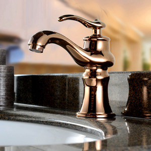 Antique Rose Gold Filtering Single Faucet Bathroom
