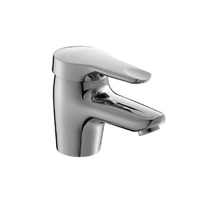 Simple Design Chrome Finish Copper Bathroom Sink Faucets