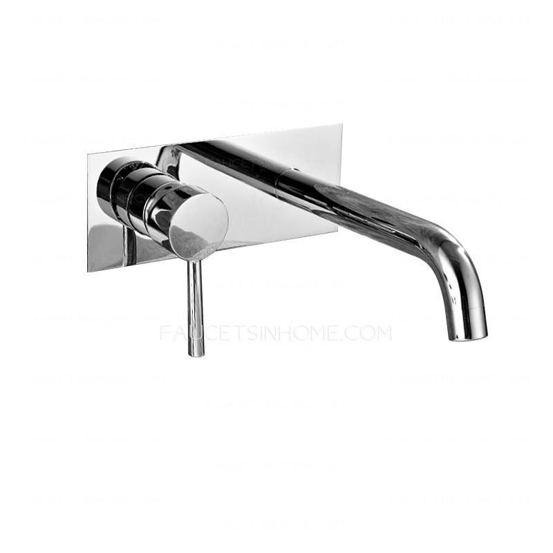 cool wall mounted chrome finish bathroom sink faucets