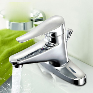 Simple Design Two Holes Single Handle Bathroom Sink Faucets