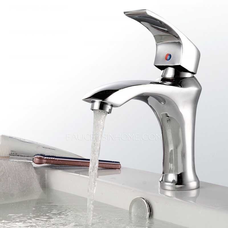 Contemporary Style Electroplated Finish Bathroom Faucet