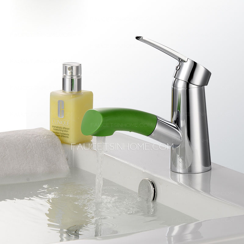cool abs plastic material pullout spray bathroom faucet