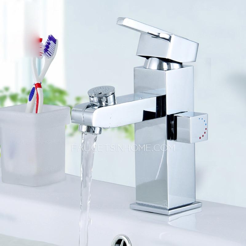 Modern Square Shape Bathroom Sink Faucet
