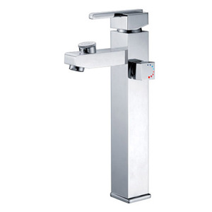 Modern Square Shape Chrome Finish Bath Faucet