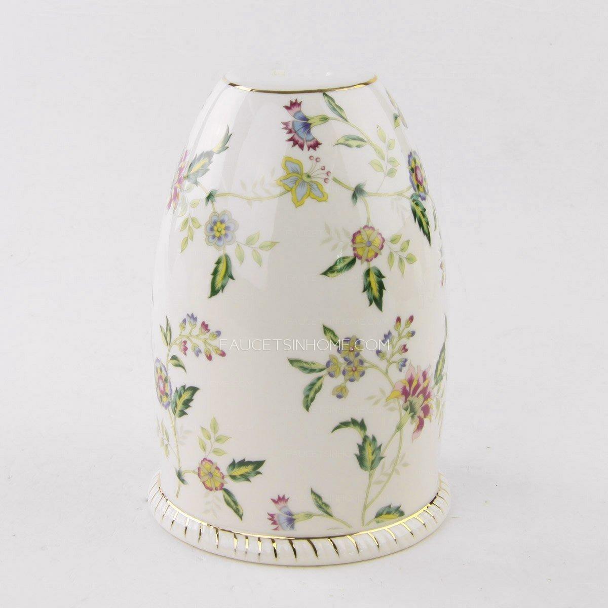 Exquisite Floral Porcelain Innovative Toilet Brush Holder