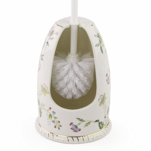 Exquisite Floral Porcelain Innovative Toilet Brush Holder