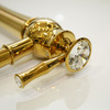 Design High Foot Gold Plated Bathroom Faucets