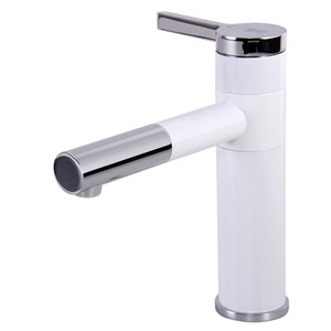 Modernize Painting Rotatable White Bathroom Faucet