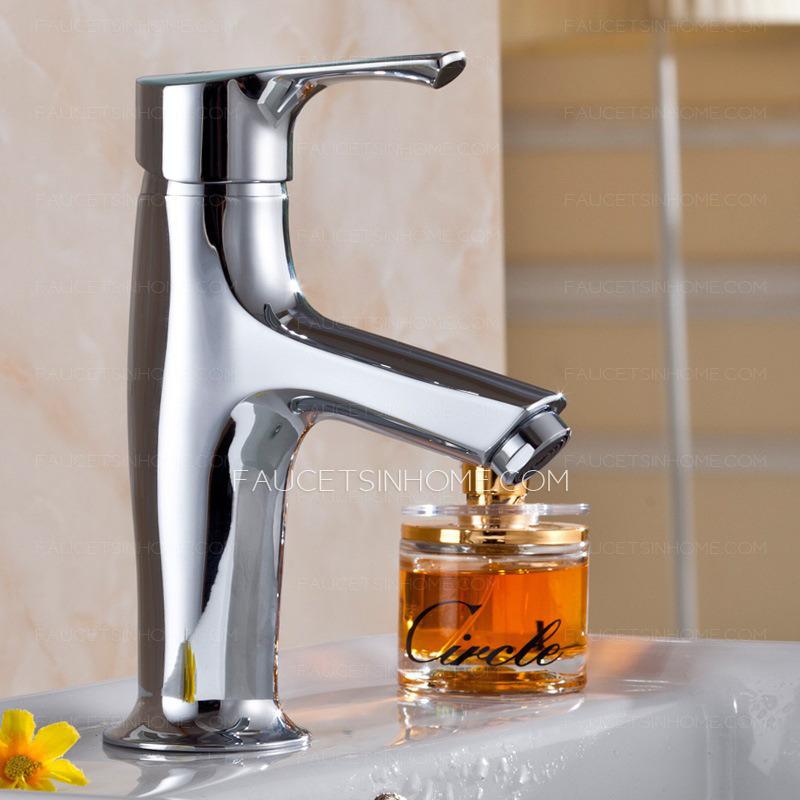 For Sale One Hole Single Handle Chrome Bathroom Faucet