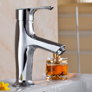 For Sale One Hole Single Handle Chrome Bathroom Faucet