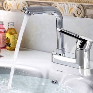 Good Quality Rotatable Faucet Two Holes Bathroom Faucet
