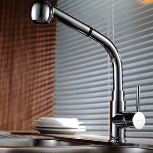Modern Life Copper Hot And Cold Pullout Kitchen Faucet