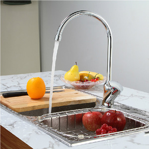 Designed Silver Color Rotatable 1 Hole Kitchen Faucet