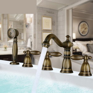 Antique Bronze Bathtub Faucet For Roman Tub