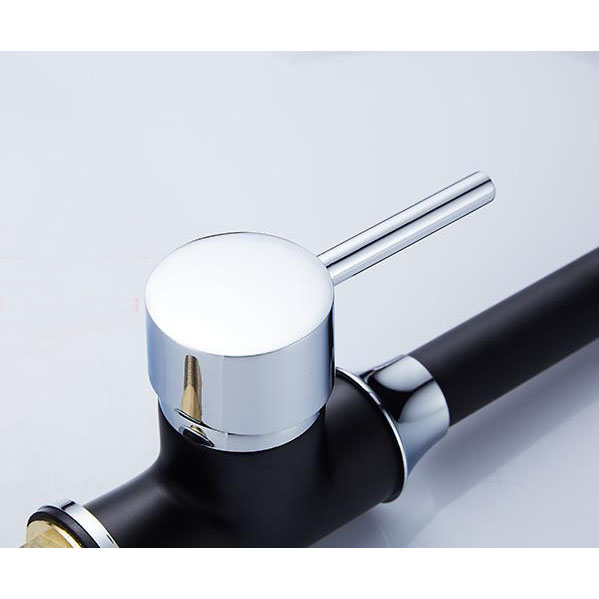 Vintage Rotatable Led Black Painting Finish Kitchen Faucet