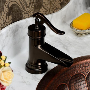 Designer Brushed Finish Waterfall Antique Faucets Bathroom