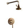 Superior Antique Brass Ring Top Shower Faucet