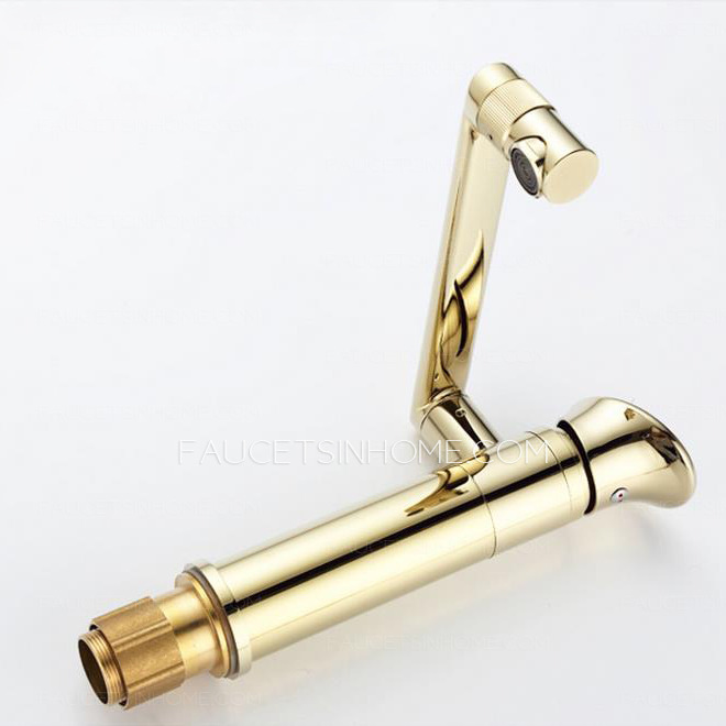 Antique Brass Bathroom Faucets Widespread Golden