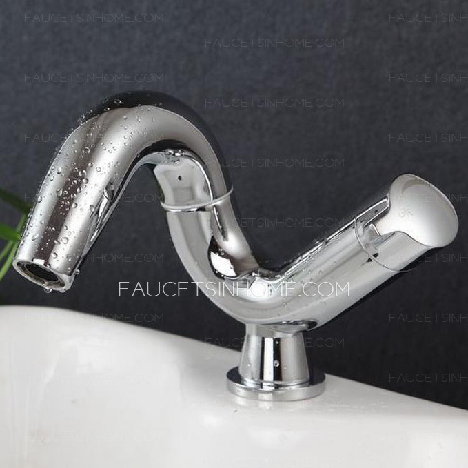 Unique Chrome Finish Art Deco Bathroom Faucets