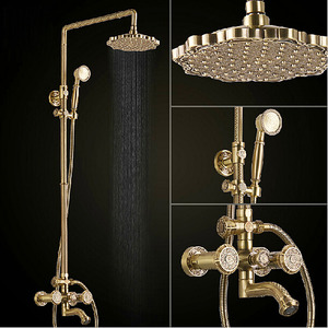 Exquisite Purely Brass Antique Shower Faucets