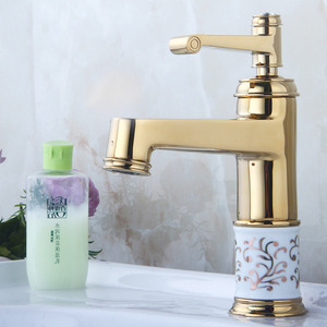 Chic Floral Pattern Bathroom Faucet Replacement