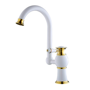 Retro Style Classic White Install Bathroom Faucet