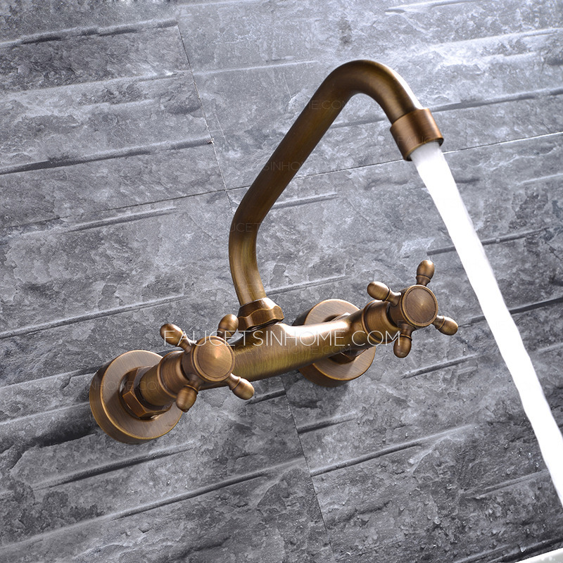 . Antique Hot And Cold Water Wall Mounted Bathtub Faucets