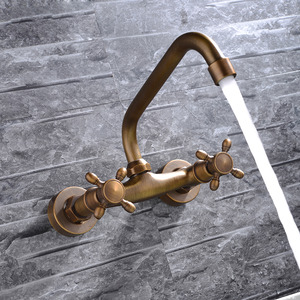 Antique Hot And Cold Water Wall Mounted Bathtub Faucets