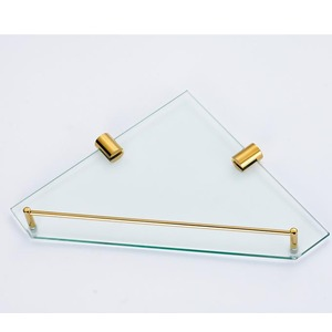 Glass Material Bathroom Shelf Triangle Shape