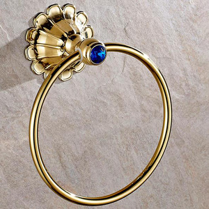 Antique Polished Brass Finish Tower Ring Decorative