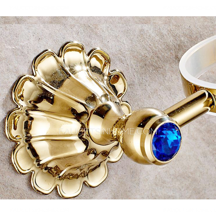 Exqusite Brass Toilet Brush Holder Porcelain Toilet Cup