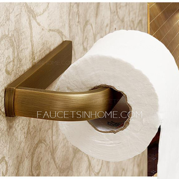 Retro Style Antique Brass Finish Toilet Paper Holder