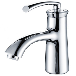 Designed Chrome Bath Faucets One Hole Single Handle