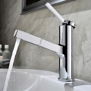 Brass Body Pull Out Faucet Design For Bathroom