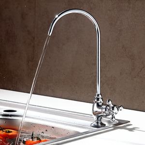 Good Drinking Water Gooseneck Faucet Cross Handle